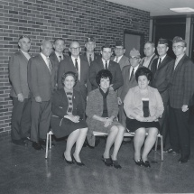 1970 - Before Construction- Maggie Purdum (front row/center) & team