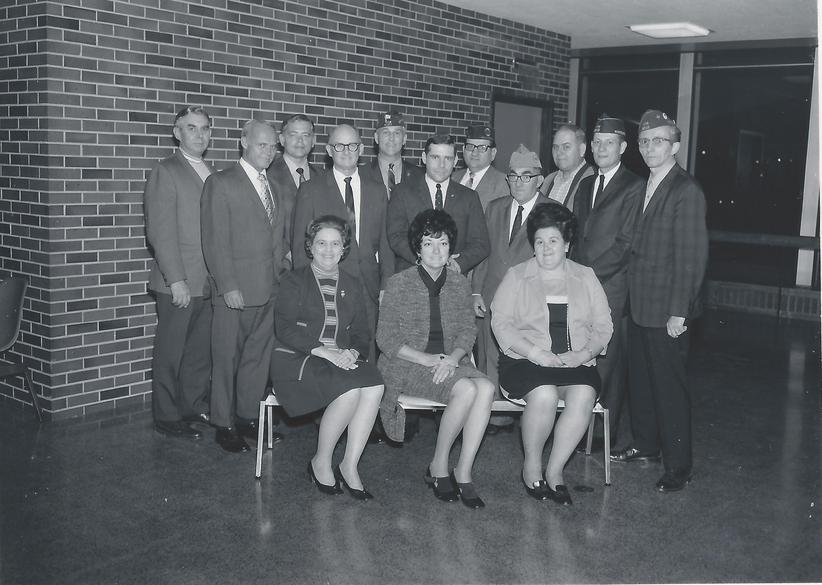 1970 - Before Construction- Maggie Purden (front row/center) & team at MSP airport