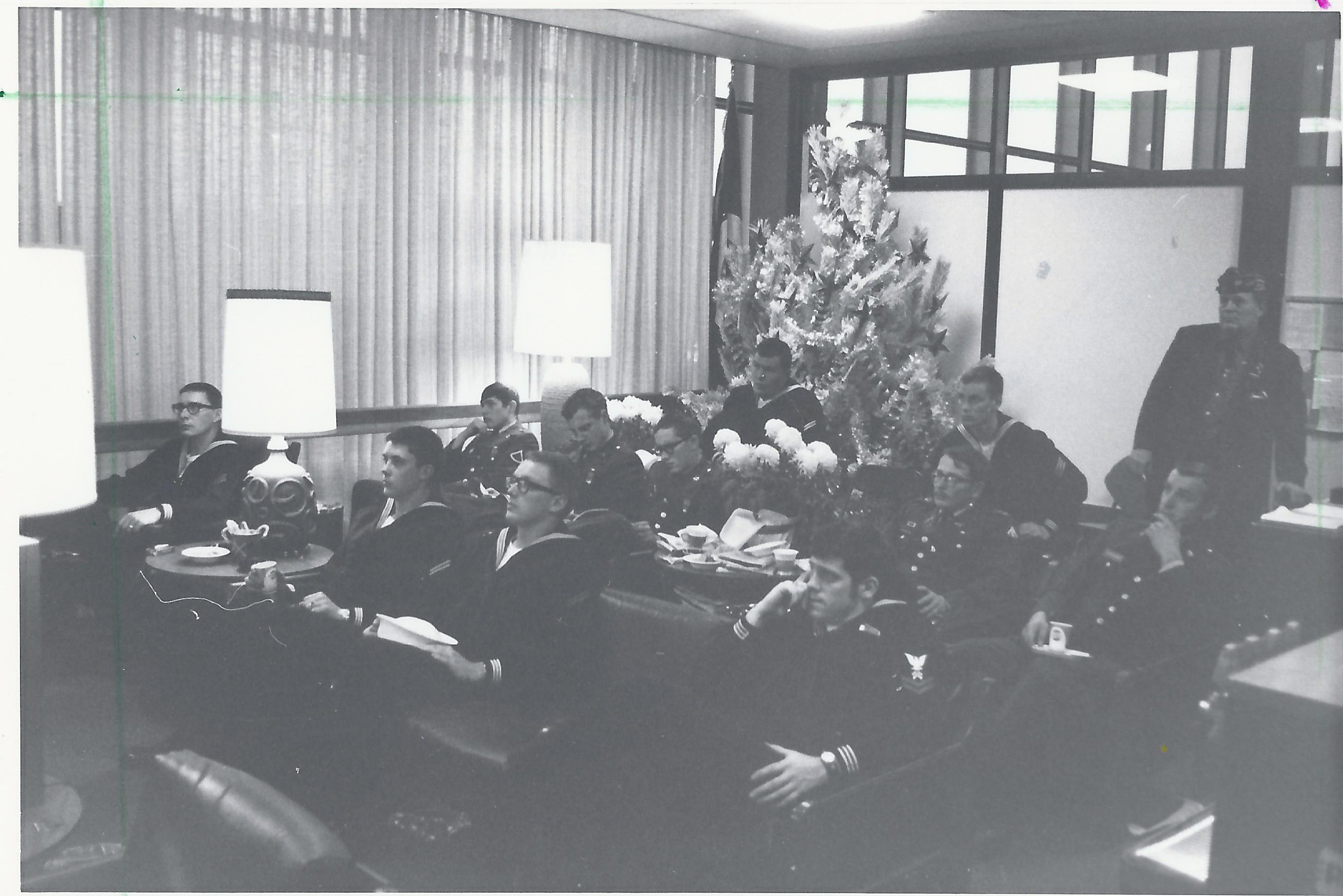 1970 Nov 22 - Opening Day, Center Lounge w-Troops