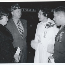 1970 Nov 22 - Opening Day Visitors(8) (LtoR) Mrs Stenvig, Alderman Anderson, Mrs Purdum, Maj Brandtner