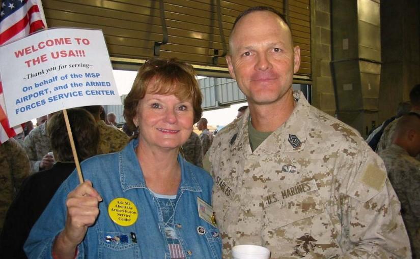 "AFSC Volunteers Meet-n-Greet ""America's Battalion,"" USMC"